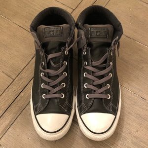 Converse All Star leather size 14, Black
